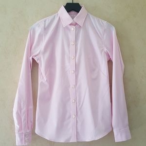 Banana Republic pink non iron button down shirt